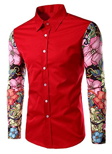High Quality Button Down Shirts Floral Men-Buy Cheap Button Down ...