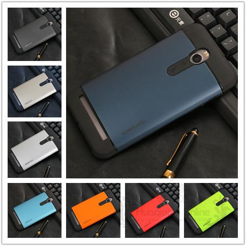 Hybrid Silicone Hard Back Shockproof Tough Slim Armor Case Cover For ASUS Zenfone 2 5.5