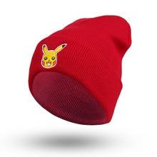 2016 Explosion Model Pokemon Pikachu Hat Hip Hop Cute Beanies Winter Warm Knitted Beanie Bonnet Gorros Caps For Women Men 7AA724