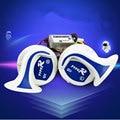 Envío libre Seger 12 v 110db bocina caracol Claxonmagic 8 Sonidos de alta calidad eléctrica Cuernos de Vehículos motocicleta Del Carro Del Coche cuerno