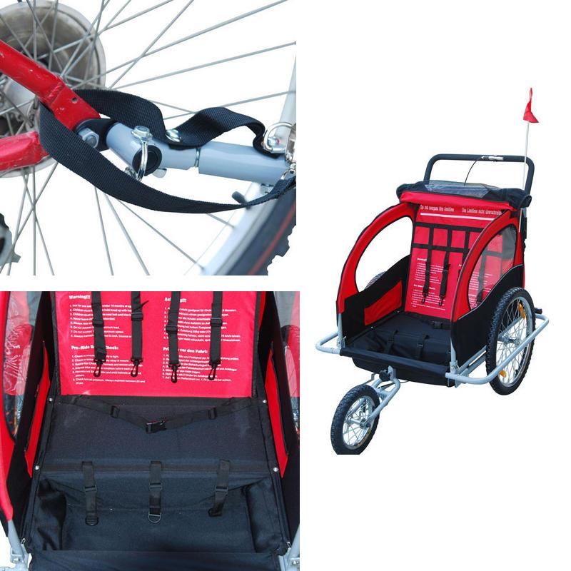 Aluminiu cadă cărucior pentru copii cu roți 20inch, trailer - Sport și în aer liber - Fotografie 5