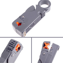 Household Coaxial Wire Stripper Multi Tool Cable Stripper/Cutter Tool Rotary Coax Stripper for RG59/6/58 Network Tool