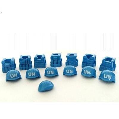 UN Tactical vests helmets Berets font b lepin b font weapon Minifigures original toys swat police