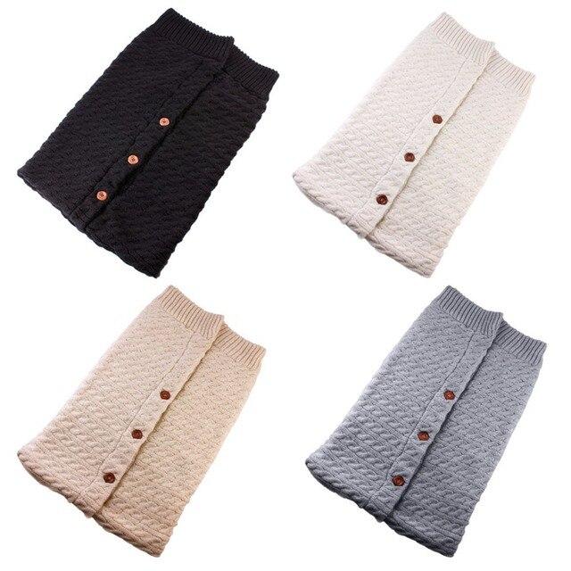 Puseky Baby Sleeping Bags Cotton Knitting Envelope for Newborn footmuff for stroller sleeping para bebek winter 2018 1