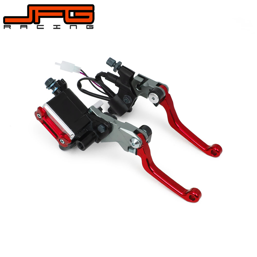 22MM Motorcycle Brake Lever Master Cylinder & Cable Clutch Perch For HONDA CRF250 CRF250X CRF250R CRF450X CRF450R DIRT PIT BIKE cnc offroad mx clutch brake levers for honda cr125r 04 07 cr250r crf250r 04 06 crf450r 04 06 crf250x 04 16 crf450x 05 16