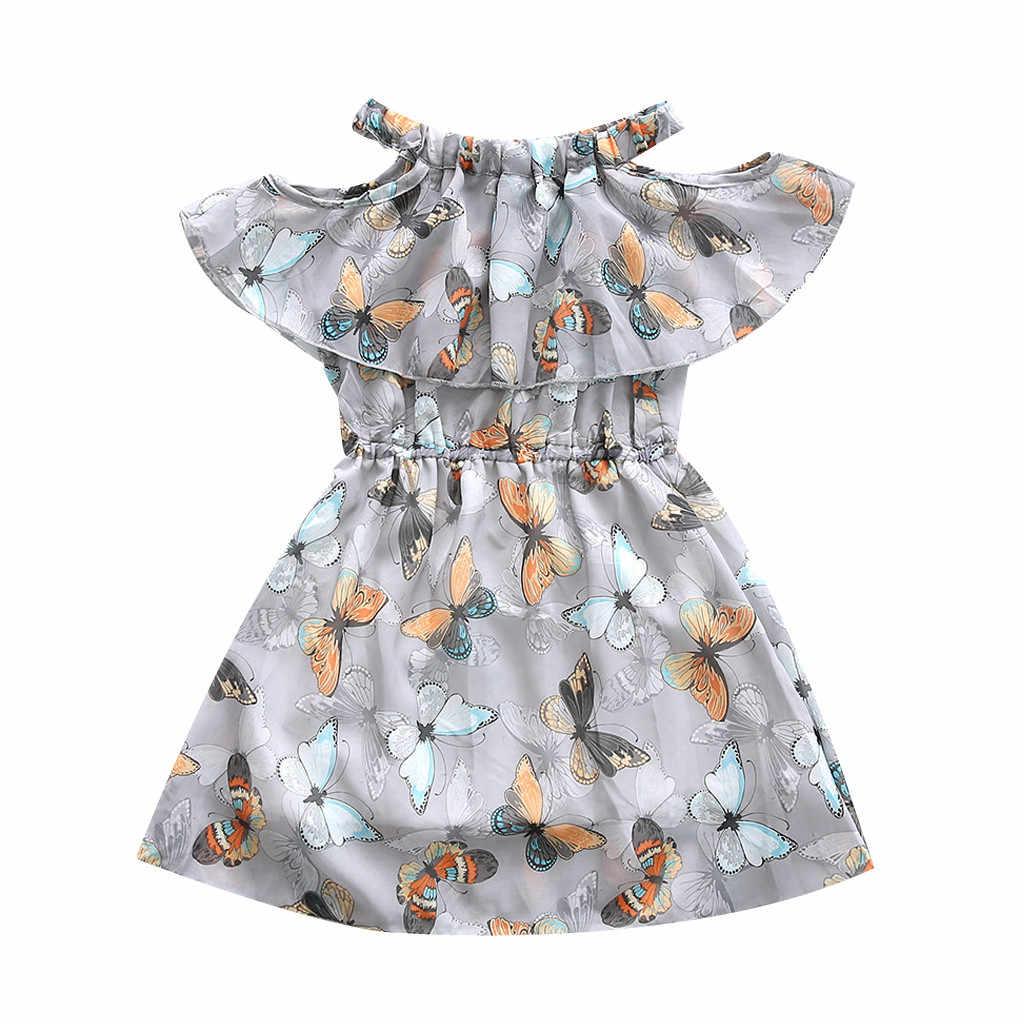 Платья для малышей; детское платье для девочек-подростков; фатиновые платья принцессы с бабочками, рюшами и открытыми плечами; prinsessenjurken meisjes