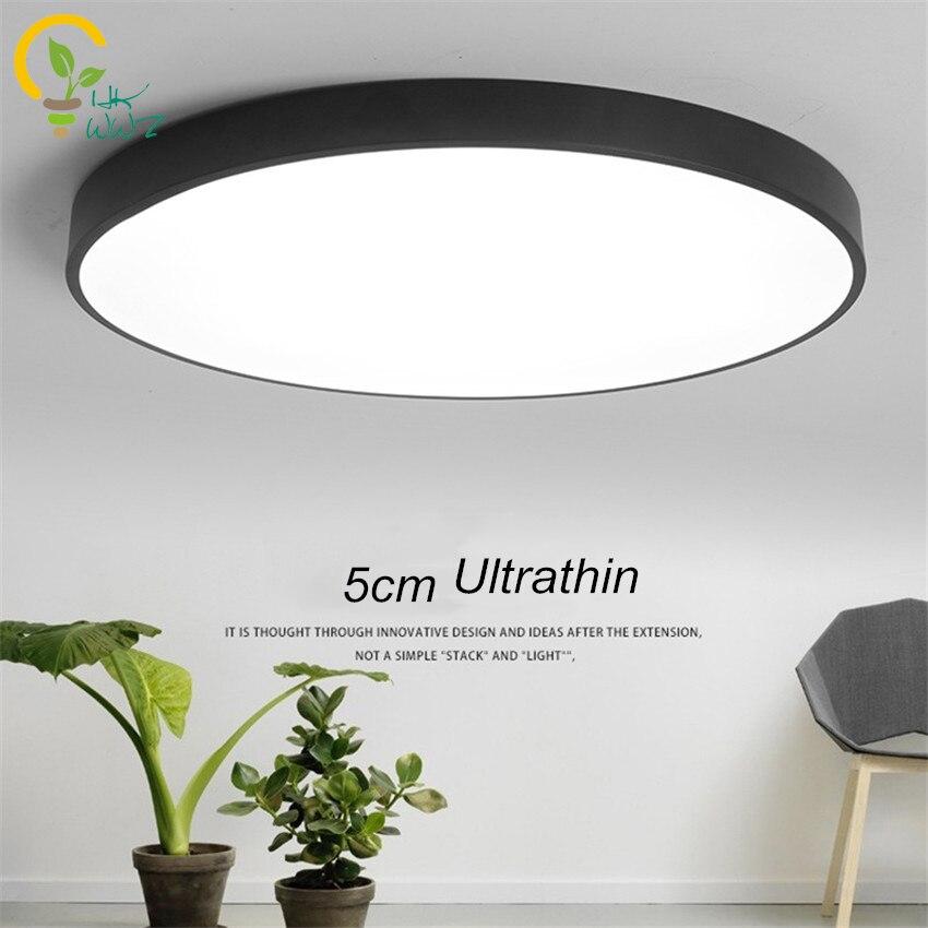 US $29.99 10% OFF|RC Dimmbar Ultradünne 5 cm Led deckenleuchte wohnzimmer  Lampe Moderne Einfache schlafzimmer Lampe esszimmer Deckenleuchten ...
