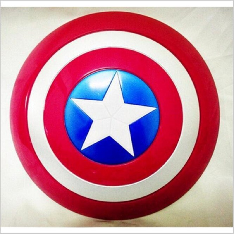 цена на The Captain 32CM America Shield Light-Emitting & Sound property Toy Metallic shield Red/Blue