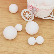 5PCS Polystyrene Styrofoam Foam Ball Toys 20-120mm Xmas Decoration Christmas DIY Kids Favors Gifts Wedding Party Accessories(China)
