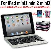 Flip Slim Plastic Wireless Bluetooth Keyboard PC Case Cover for Apple iPad mini 1 2 3 7.9 Shell Coque Capa Funda +Pen +Film