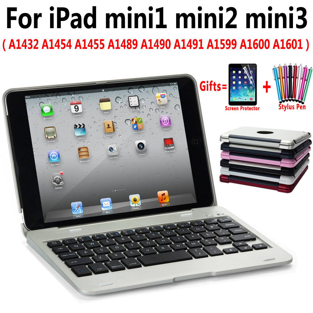 Flip Slim Plastic Wireless Bluetooth Keyboard PC Case Cover for Apple iPad mini 1 2 3 7.9  Shell Coque Capa Funda +Pen +Film|Tablets & e-Books Case| |  - title=