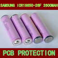 100% REAL with PCB protection for SAMSUNG ICR 18650 -26FM 2600mah 3.6V 3.7V Lithium ion Li-ion Rechargeable Chargeable Batteries