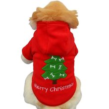 Pet Dog Hoodie Coats Winter Warm Puppy Dog Chrismas Coat Hooded Costume  Pet Outwear Clothes