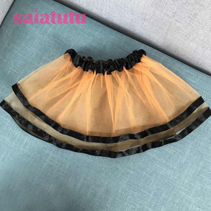 """נסיכת קיץ ילדי תינוק מסיבת יום הולדת טול Pettiskirt ילדי מיני קצר טוטו ילדה חצאית Falda Vestido שחור חצאיות ארה""""ב"""