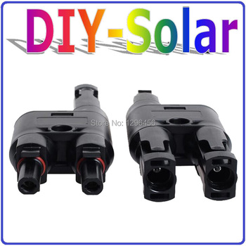 T-branch Connector male and female,  Solar Panel Connector used for PV Cable 2.5mm2 4mm2 6mm2  solar