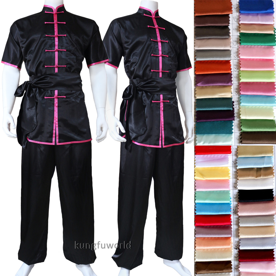 Custom Make Shortsleeves Changquan Tai chi Uniform Martial arts Wing Chu Kung fu Wushu Suit все цены
