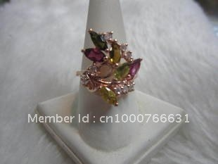 Natural grade Tourmaline Ring ( silver, angle ring, size 20 mm)