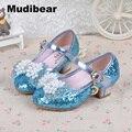 Los Nuevos Productos de Calidad 2016 Niñas Solos zapatos de la Princesa Zapato de Tacones botas de Nieve Y Colores Zapatos del Deslizador de Cristal de hielo De 3 A 12 Años de Edad, Niña
