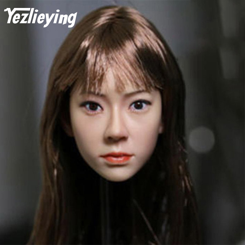 KUMIK 15-8 female head sculpture model exquisite ladies 1/6 head shape 12 inch Phicen action figure doll toys цены онлайн