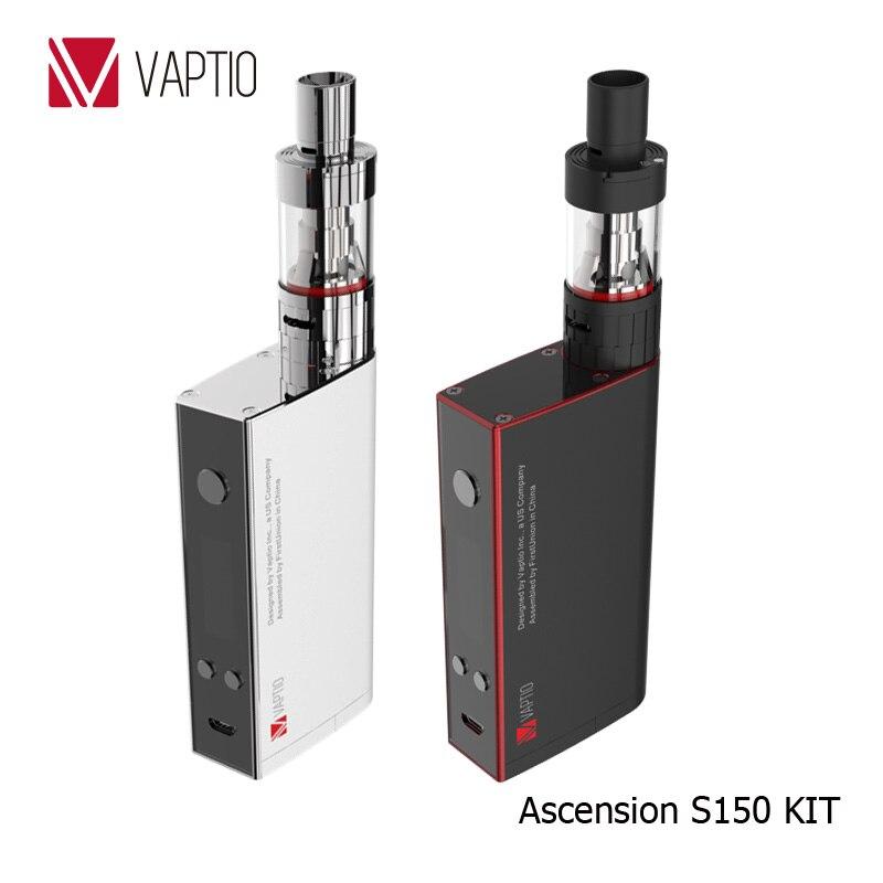 Vaptio S150 Vape Electronic Cigarette 150w KIT 3.0ml atomizer kit VW/VT-Ni/Ti/SS/ATC temperature control vape 0.91'' OLED Screen