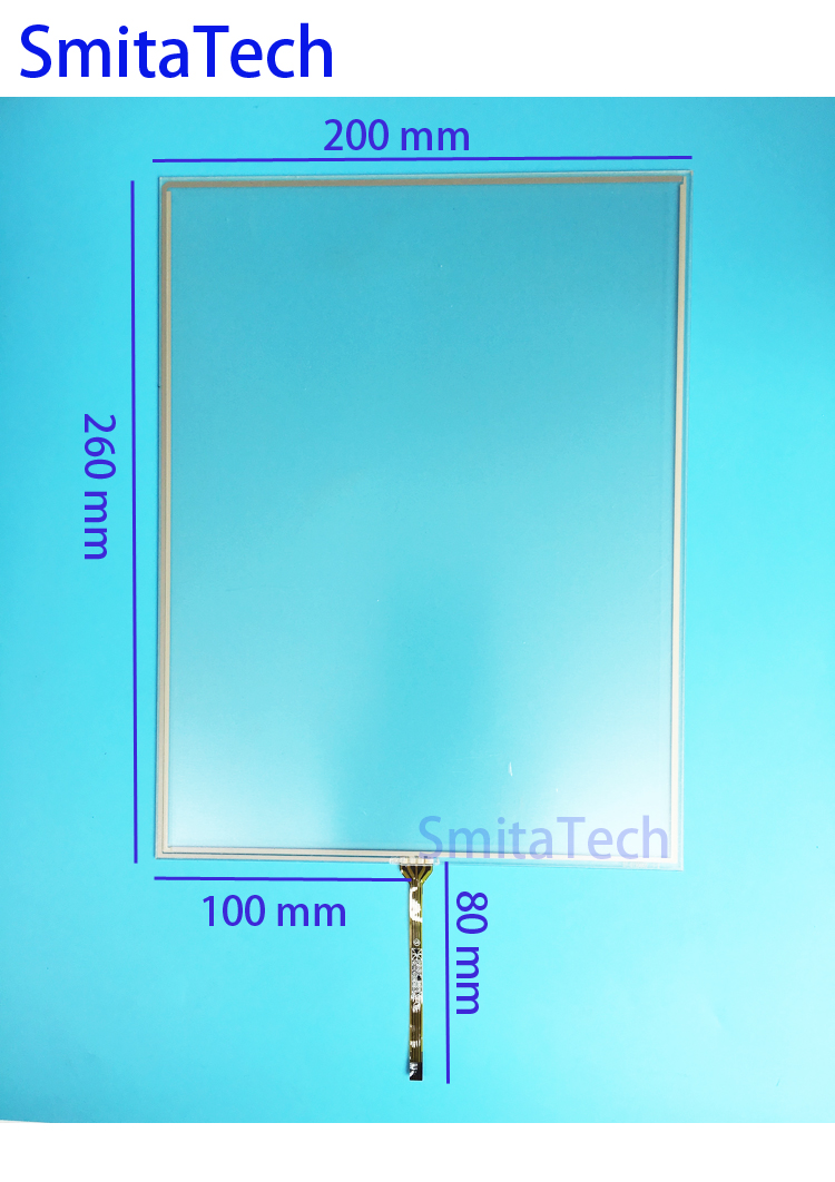 12'' inch ST-121001 260x200mm 4wire Resistive Touch screen Digitizer panel 200mm*260mm new 5 inch 4wire resistive touch panel digitizer screen for prestigio geovision 5200 5200bt gps free shipping