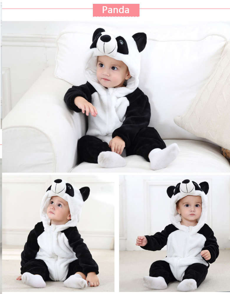 HTB1uCJhaynrK1Rjy1Xcq6yeDVXaK 2019 Infant Romper Baby Boys Girls Jumpsuit New born Bebe Clothing Hooded Toddler Baby Clothes Cute Panda Romper Baby Costumes