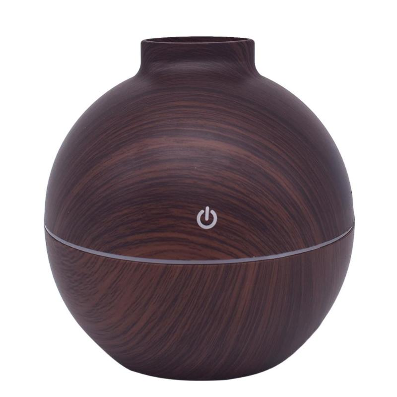 130Ml USB Aroma Diffuser Wood Grain Aromatherapy Diffuser Mist Maker Electric Air Humidifier Ultrasonic Humidifier For Home