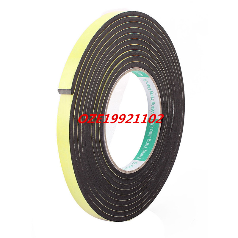 12mmx4mm Single Sided Sponge Tape Adhesive Sticker Foam Glue Strip Sealing 10Ft 2pcs 2 5x 1cm single sided self adhesive shockproof sponge foam tape 2m length