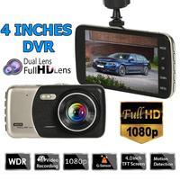 VODOOL SE001 1080p Car DVR Camera Dual Lens 4 inch Screen WDR Night Vision Dashboard Car Dash Camera Safety Driving Recorder