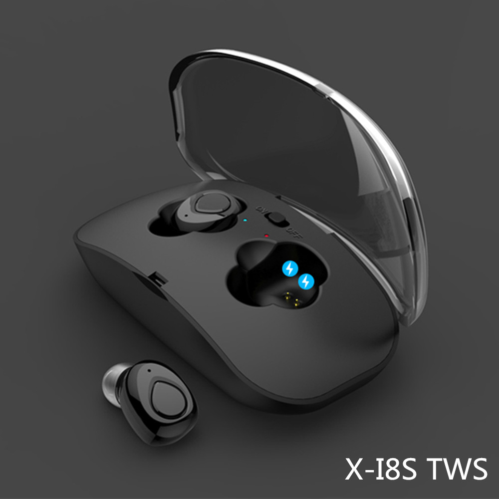 I8S TWS mini With Battery Charging Power bank Earphones Wireless Bluetooth V4.2 earpieces Microphone Stereo Headsets Earbuds