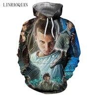 3D Print Stranger Things Sweatshirts Men Women Long Sleeve Hooded Stranger Things Hoodie Sweatshirt Men Hoodies