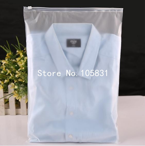 100pcs 24x35cm zip lock zipper top frosted plastic bags for Personalized t shirt bags
