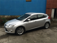 For Ford Focus 2015 2016 2017 2018 Aluminium alloy Silver Top Roof Rails Rack Side Bars Decoration Trim Car Accessories