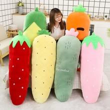 Long Plush Fruits Vegetable Plants Giant Stuffed Toy Sleeping Leg Pillow Red Strawberry Pineapple Cactus Corn Carrot 50/70/120cm