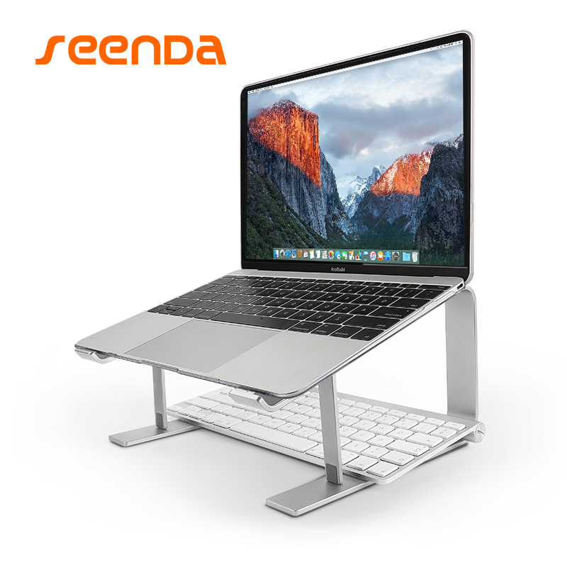 seenDa Aluminum Laptop Stand Metal Cooling Notebook Holder for Macbook Air, for Macbook Pro Base Bracket for Laptop 10''-17''