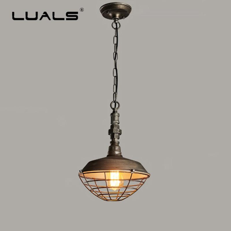 Luminaire suspendu de Style industriel Loft lampes suspendues rétro lampe pendante minière créative pour Luminaire de Restaurant Edison
