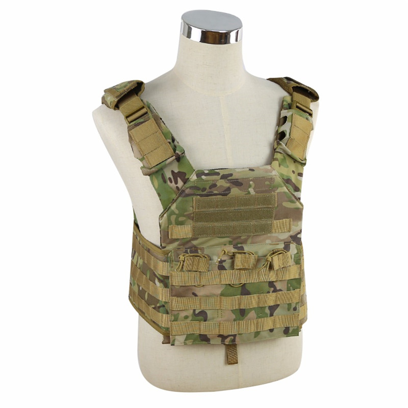 WoSporT Military Hunting Vest Enhanced Tactical 500DNylon MOLLE JPC Shooting game Body Armor Rig Plate Carrier Airsoft Paintball