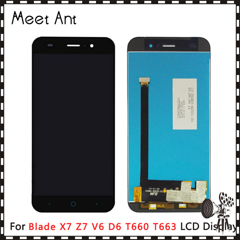 10pcs/lot High Quality 5.0'' For ZTE Blade X7 Z7 V6 D6 T660 T663 LCD Display Screen With Touch Screen Digitizer Assembly image