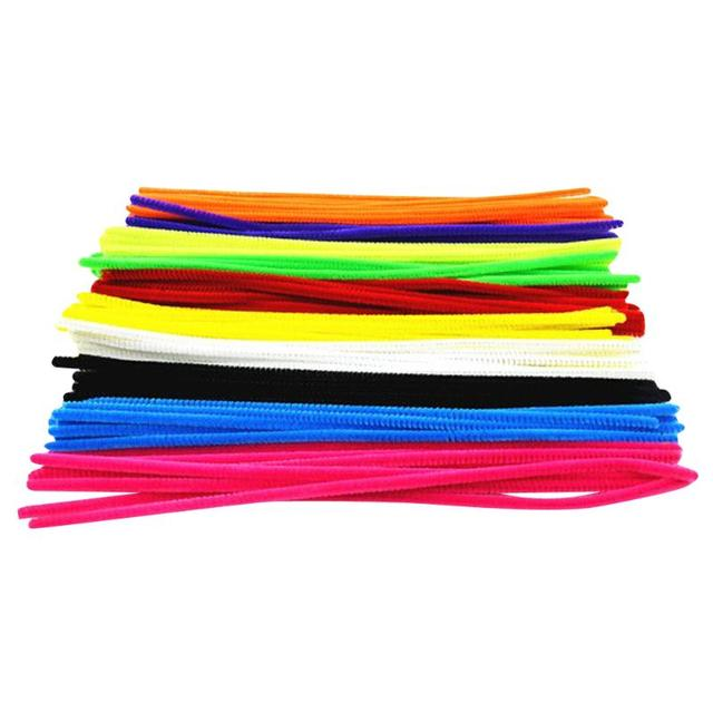 100pcs Montessori Materials Plush Toy Children Early Educational Toy Kids Pipe Cleaner Toy Gift Colorful DIY Art Crafts