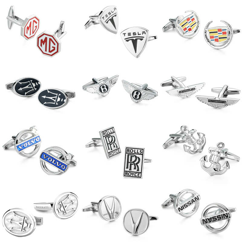 WN hot sale! car logo cufflinks high quality copper, men's French shirt cuff links wholesale and retail