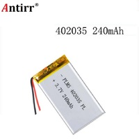 3.7 V lithium polymer batteries 042035  402035 250 mah MP3 MP4't a MP5 small toys free shipping|Digital Batteries| |  -