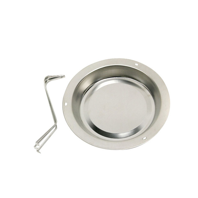 Stainless steel vertical roaster chicken holder with drip pan
