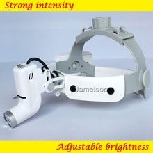 Медицинская светодиодный светильник лупа, регулируемый налобный фонарь для хирургической хирургии, перезаряжаемый