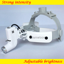 Medical LED light loupe magnifier adjustable strong intensity rechargeable dentistry headlamp surgical surgery headlight