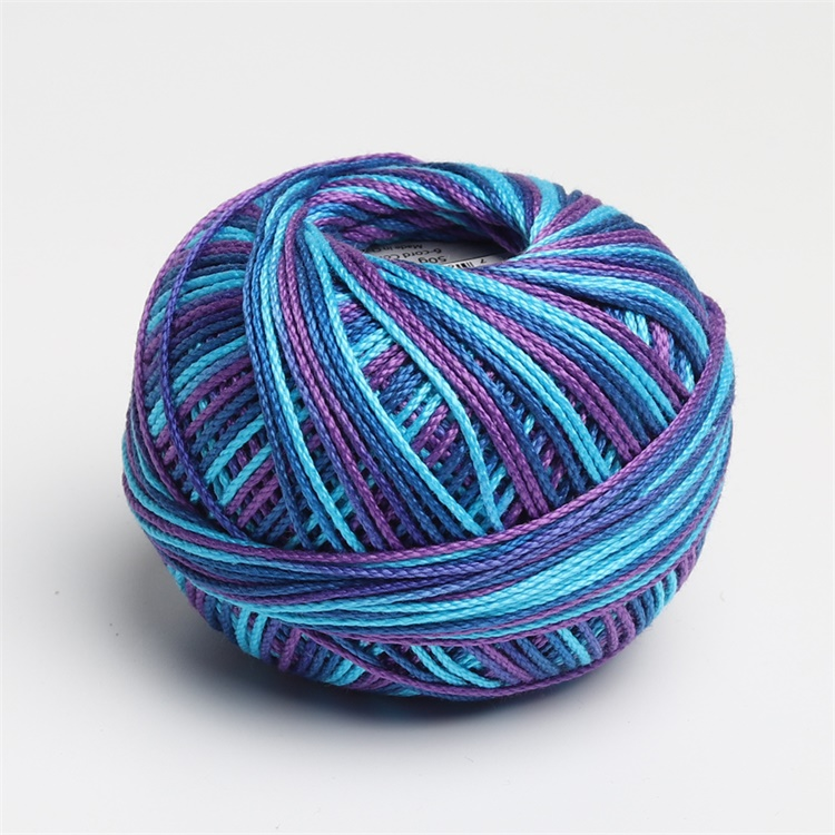 Размер 3 хлопок жемчуг пестрый 50 грамм мяч египетская длинноштапельная хлопковая пряжа газированная двойная мерсеризованная 6 нитей плетение - Цвет: 122