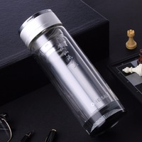 New 300ml My Glass Water Bottle Tea Bottles With Filter 304 Stainless Steel Drink Bottles Thermos
