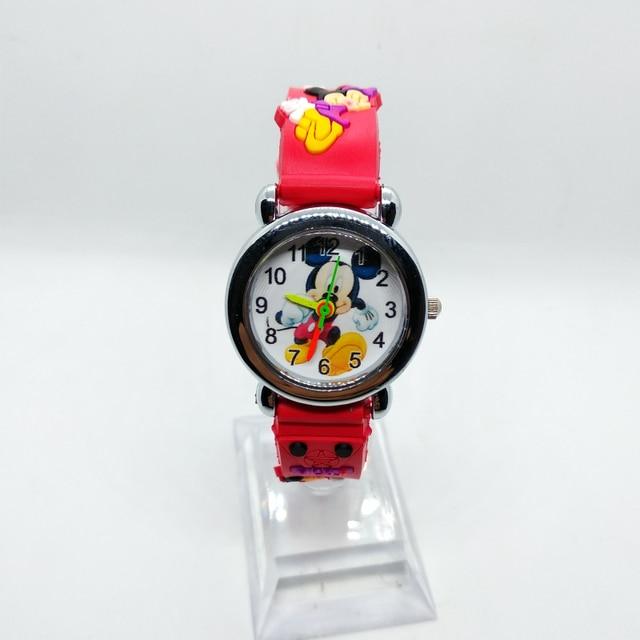 4D Cartoon Mickey Black Car Children Watch Spiderman Girls Boys Clock Kids Watch
