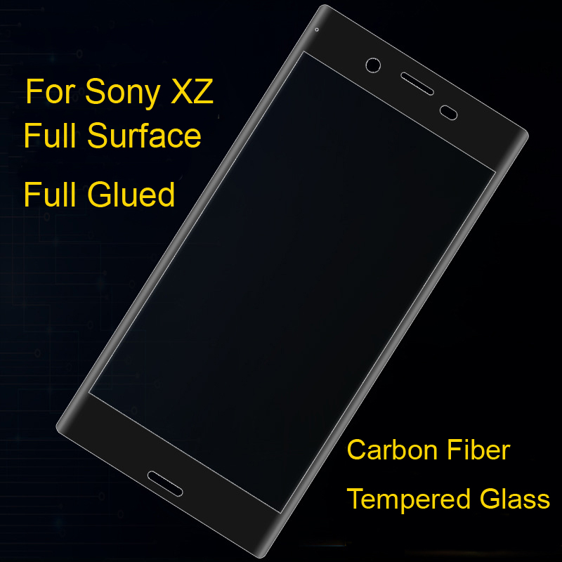 Phone Screen Protectors For Xz1 Full Surface Full Glued Carbon Fiber Soft Edge 9h Tempered Glass For Sony Xperia Xz1 4 Colors Invigorating Blood Circulation And Stopping Pains