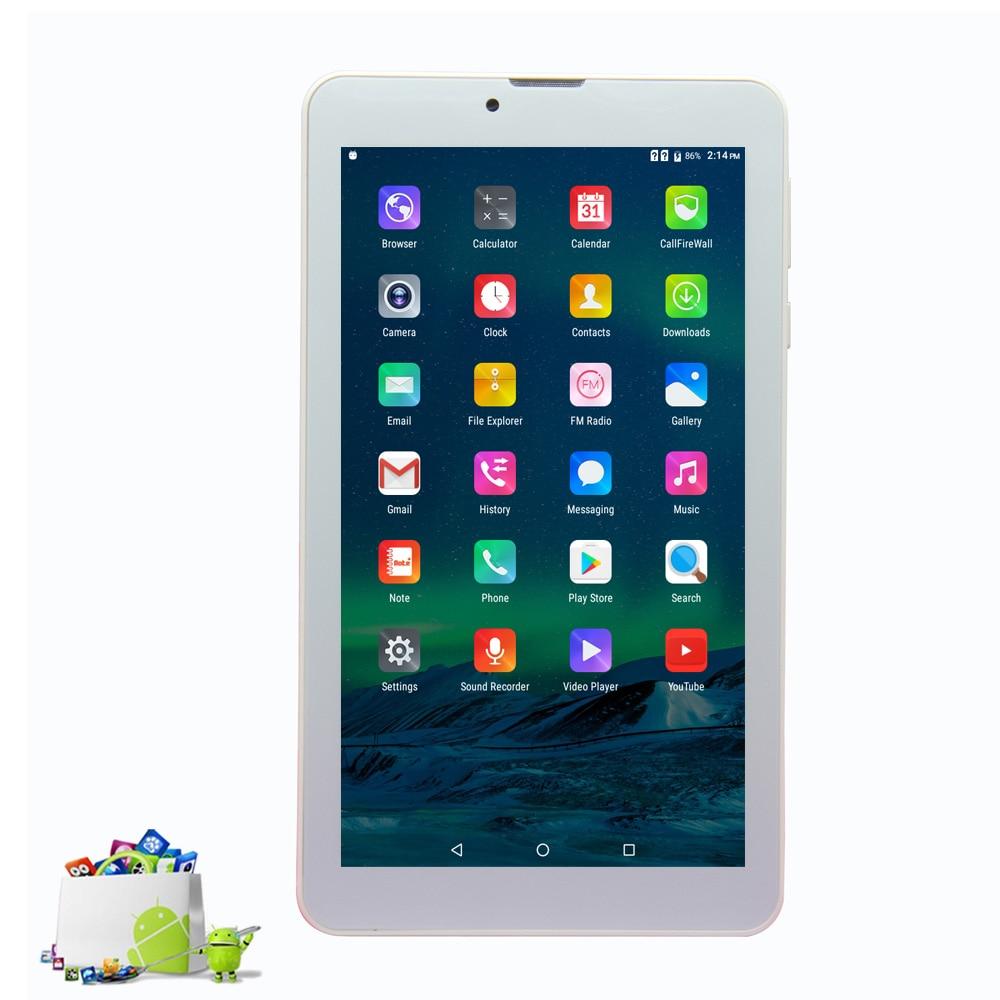 7 Inch Android 6.0 Quad Core HD Lcd  Tablets Pc 3g Call 2 Sim Card  Phone Call Bluetooth Wifi Camera Quad Core  FM 8gb Rom
