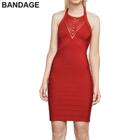 2019 premium prom slim 90% rayon mini wedding guest knee length halter dresses pretty red cocktail bandage party short dress